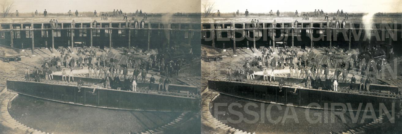 Railway photo restoration