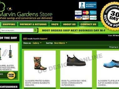 Ebay store and template design