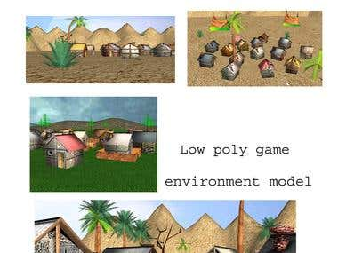low-poly-game-environment