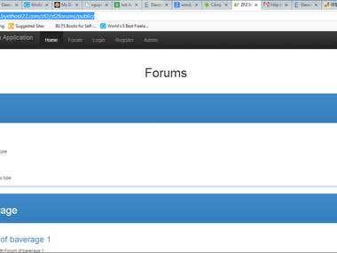 demo forum with zend framework 2