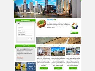 Website for Cleaning Services Provider Company