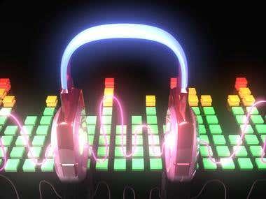 music headphones, autodesk maya