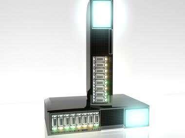 servers, made with autodesk maya