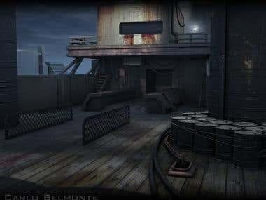 Ship Deck Render