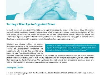 Turning a Blind Eye to Organised Crime