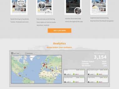 MediaWire Landing Page Design