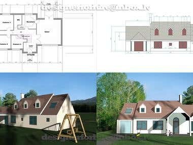 2d to 3d house