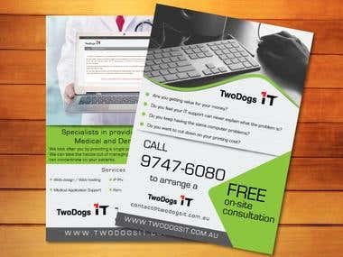 IT Support Company A4 Flyer Design