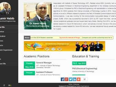 Dr Aamir Habib | Faculty Site