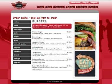 chunodiner - Restaurant online ordering - wordpress