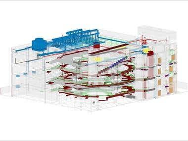 Commercial BIM model