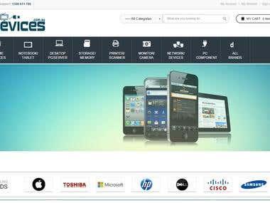 Website designed www.devices.com.au