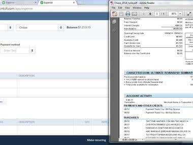 Bank & Credit Card Reconciliation in Quickbook Online