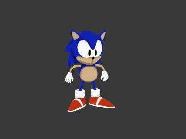 3D The blue hedgehog Sonic