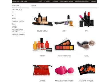 Online shop of brand cosmetics (CMS OpenCart)