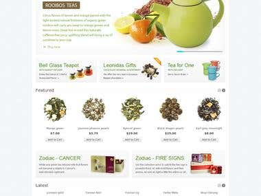 Online shop of tea (CMS OpenCart)