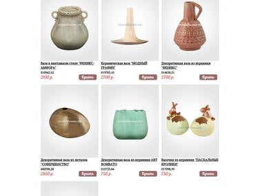 Online shop of decoration items (CMS OpenCart)