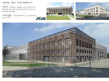 Manufacturing Plant Rendering