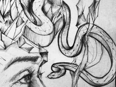Medusa\'s Birth