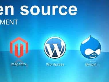 Open Source CMS Development (Drupal, Joomla, CRM, Wordpress)