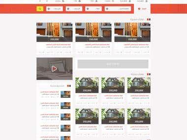 AqarPage Realestate website UI