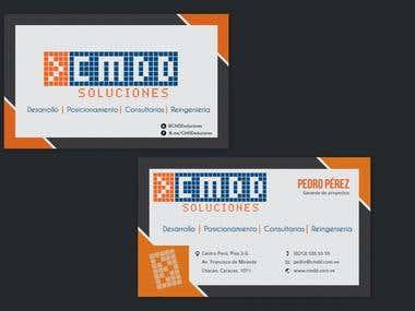 Business Card Design for Soluciones CMDD (IT Company)