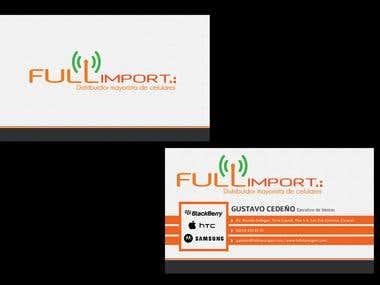 Business Card Design for Fullimport GSM