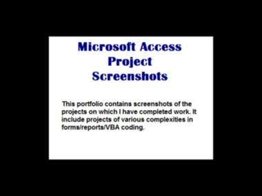 Microsoft Access Projects