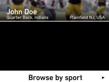 Prointro - Sports Web App