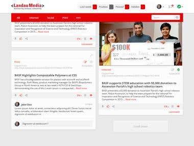 Responsive Webdesign for Landau Media