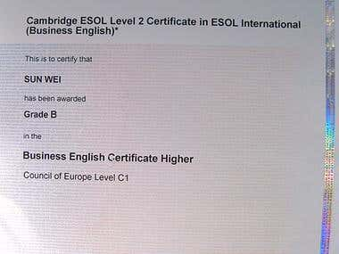 Business English Higher Cert