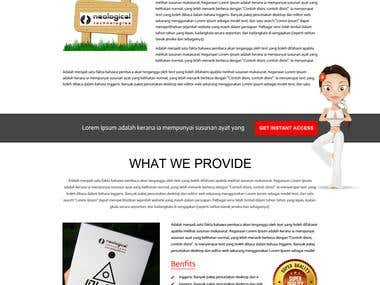 Landing Page for ebook for yoga