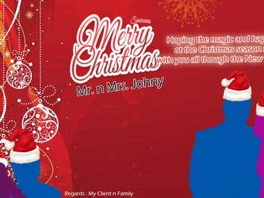 Design Custom Christmas and New Year Greeting Card