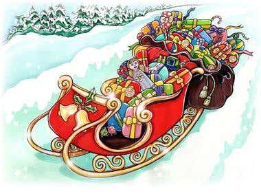 Christmas Santa Sleigh