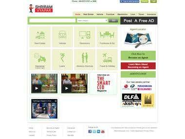 Classified webportal