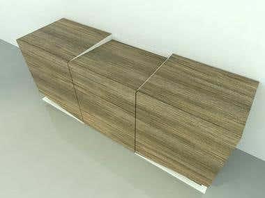 Furniture design - sideboard concept - visualisation