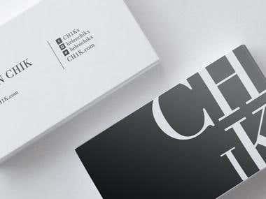 Logo design and business card design for CH1K.com