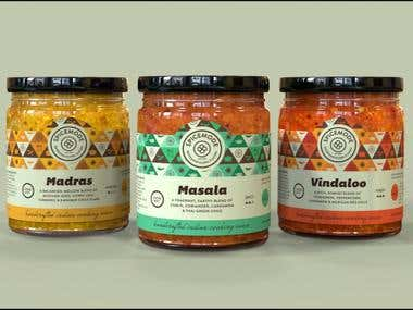 3D Render of Jars