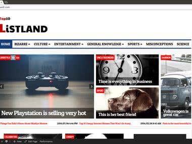 Listland news - Wordpress