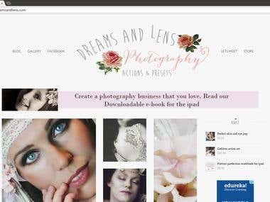 Dreams & Lens - Wordpress