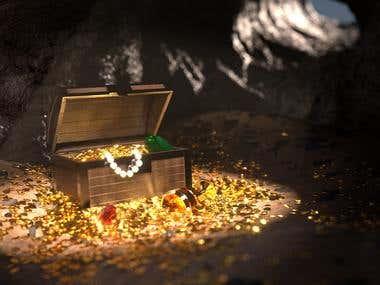 Pirate treasure box
