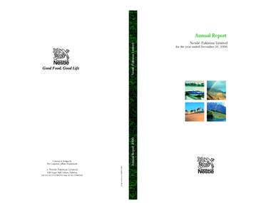 annual reports and brochures