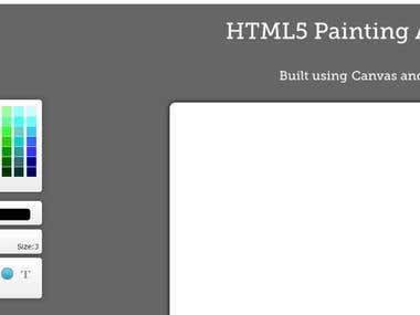 HTML5 JavaScript Painting application