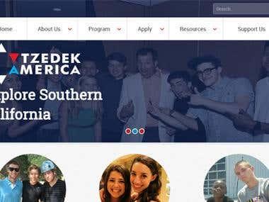 Tzedek America - University Website
