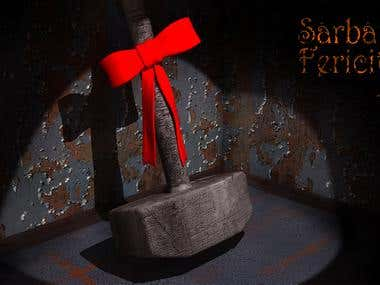 Holiday Greetings render for Feral Jack band