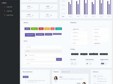 E-commerce dashboard Bootstrap