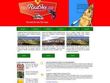 Sample Lake for Sale Web design