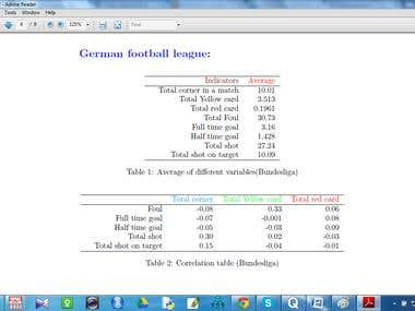 Predicting the footbal match outcomes