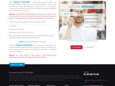 Rebuild website Diallo Telecom France