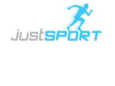 A logo i designed for the company Just-Sport